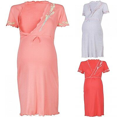 Happy Mama Women's Maternity Hospital Gown Nightie for Labour & Birth. 084p