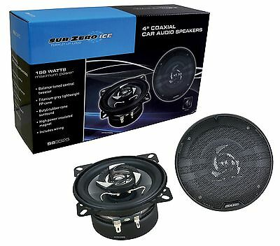 "Sub Zero 150W 4"" Coaxial 10Cm 2 Way Car Van Door Shelf Speaker Speakers & Wiring"