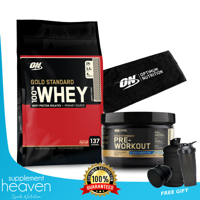 Optimum Nutrition Gold Standard 100% Whey Protein Powder 10Lbs 4.5Kg 10Lb