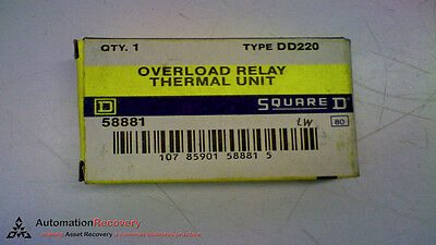 Square D Dd220 Overload Relay Thermal Unit, New