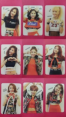 LOT of 9 TWICE Official PHOTOCARD Red Adult Ver 1st Album The Story Begins 트와이스