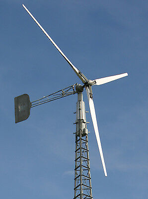 Wind Turbine Generator Jacobs 20kW Tower 80ft Inverter Complete On Gird System