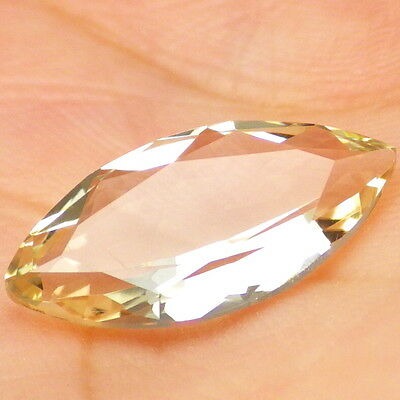 GOLDEN OREGON SUNSTONE 3.24Ct FLAWLESS-LIGHT PASTEL GOLD-CALIBRATED-JEWELRY GDE!