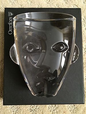 Orrefors Ramses Child Crystal Paperweight - New In Box -