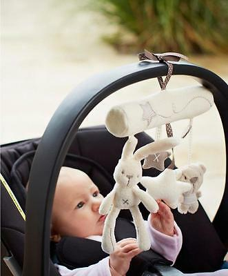 New ! Newborn Baby Pram Bed Bells Soft Hanging Toys Animal Handbells Rattles LA
