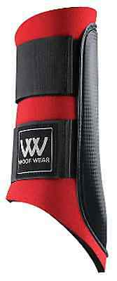 1 x Pair Woof Wear Horse Riding Club Brushing Boots - Red