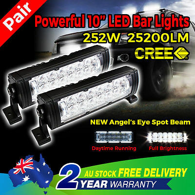 Pair 120W 7INCH CREE LED Work Driving Lights Lamp SPOT Beam Offroad HID Round