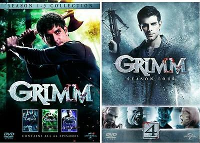 """Grimm Complete Season 1-4 Collection Dvd Box Set 24 Disc R4 """"new&sealed"""""""