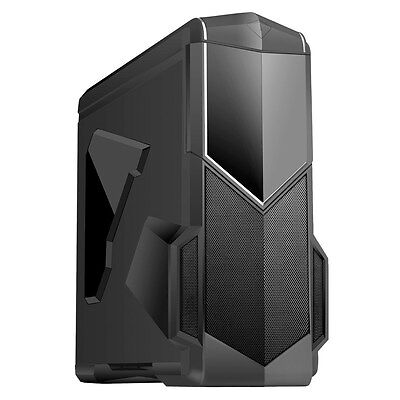 CiT Spectre Black Midi Tower Gaming Case - USB 3.0