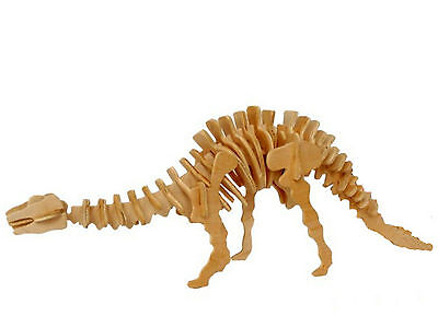 Apatosaurus Dinosaur 3D Jigsaw Wooden Model Kit Decorate Intelligence Puzzle Toy