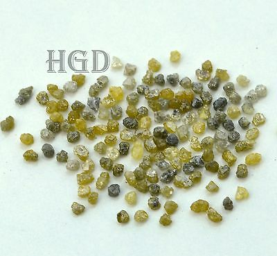 5carats+ YELLOW GREY 2.20mm Loose Rough Diamonds 100% NATURAL uncut raw £18.99 !