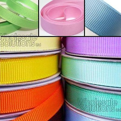 5m Quality Reels of Grosgrain Ribbon Roll Long Lengths & Width 6,10,15, 25 & 38m