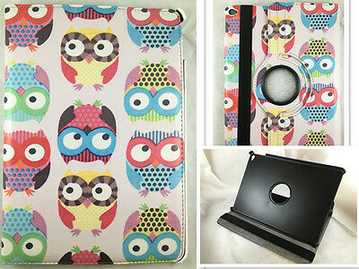 Funda Carcasa Tablet Ipad Air 2 Giratoria 360º Dibujo Buhos