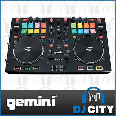 Powerful 2 Channel Gemini DJ Midi Controller for Mobile DJs and Beginners