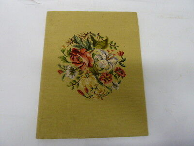 Vintage Floral Bouquet Roses Lilies Needlepoint Art