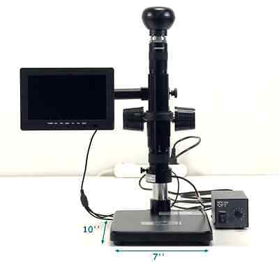 USA 110V Digital Electric Industrial Inspection Zoom Video Microscope Amplify