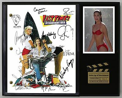 Fast Times At Ridgemont High - Reprinted Autograph Script Display USA Ships Free