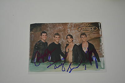 FOURCE signed  Autogramm In Person 10x15 cm BOYBAND Wouldn't It Be Nice 2003