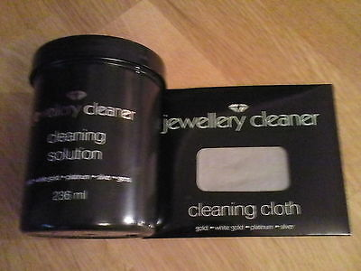 Jewellery cleaner cleaning solution & cloth for Gold, White Gold, Silver, ......