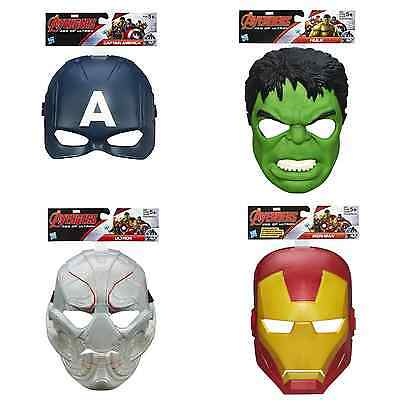 Marvel Avengers Age Of Ultron Kids Childrens Mask Hulk Iron Man Captain America