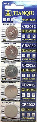 5 X Cr2032, Br2032, 2032 3V Tianqiu Lithium Coin Battery Usa Shipping  2021