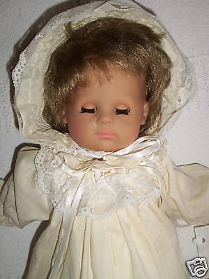 Vintage Zapf Creation Baby Doll Blond Blue Eyed Made In