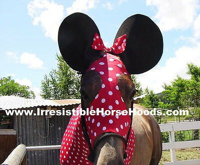 Medium Minnie Mouse Lycra Horse Sleazy Costume, Ears & Tail Bag   * M