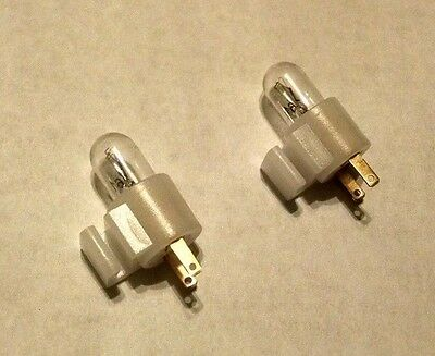 2 EA clip on lamp holders with bulbs lights reject button for arcade coin door