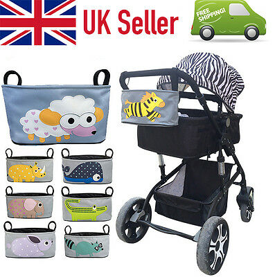 ❗️UK STOCK❗️ Baby Pram Organizer Bag with Cup Holder Jogger PUSHCHAIR STROLLER