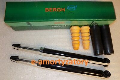 2x REAR SHOCK ABSORBERS SEAT AROSA VW LUPO + Protection Kit  BERGH