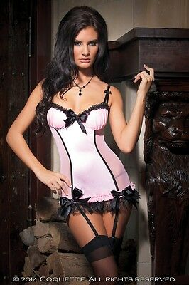 Coquette Mesh & Lycra Chemise with Padded Underwire Cups - AUTHENTIC