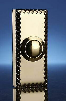 Byron 2208Bs Wired Surface Mount Bell Push Button Brass PVD Coating.