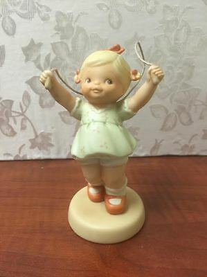 ENESCO 1991 FIGURINE - Send All Life's Little Worries Skipping