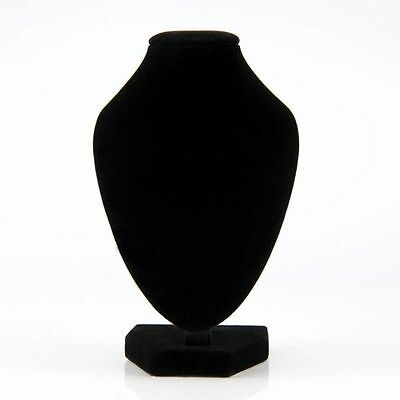 Mini Small Velvet Mannequin Necklace Jewelry Display Stand Holder Pendant Bust