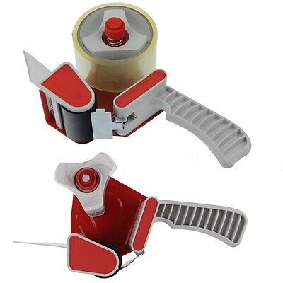 Red Portable Carton Sealer Packing Tape Dispenser Gun Packaging Sealing Cutter