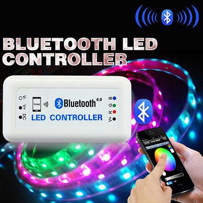 Bluetooth RGB led strip light controller flexible wireless remote control LD448