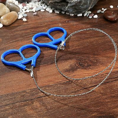 Outdoor Stainless Steel Scroll Wire Saw Survival EDC Tool for Emergency Camping