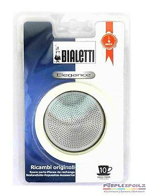 New Bialetti Silicone Ring Gasket Filter Plate Stainless Steel Coffee Percolator