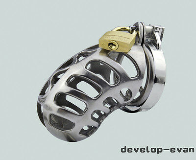 New Bondage Stainless steel Male Chastity Device Chastity Cage Fetish A196