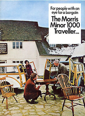 Morris Minor 1000 Saloon & Traveller 1970-71 UK Market Sales Brochure