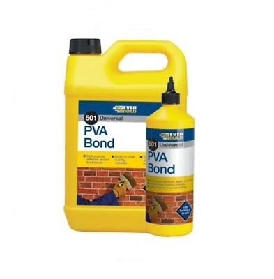 501 Pva Bond Wood Adhesive Glue Everbuild Bonding Agent 500Ml/1Lt/2.5L/5L/25L