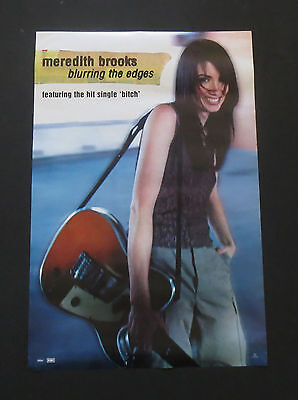 MEREDITH BROOKS  Promotional LP  Poster   Blurring The Edges