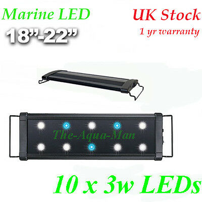 Aquarium Led Overtank Light Saltwater Marine Lighting 45 Cm Extendable 18""