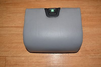 BMW E38 REAR SEAT FIRST AID BOX TRAY GRAY LEATHER STORING PARTITION 740il 750il