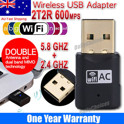 600Mbps Dual Band 2.4Ghz 5Ghz USB WiFi Dongle AC600 Wireless Lan Network Adapter