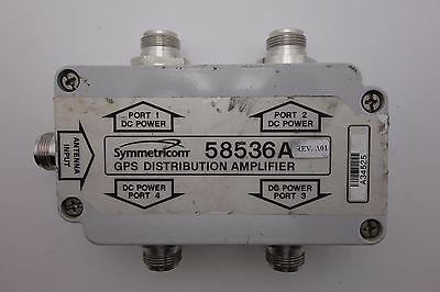 Symmetricom 58536A GPS 1x4 4-Way Active Antenna Signal Splitter Divider N Female