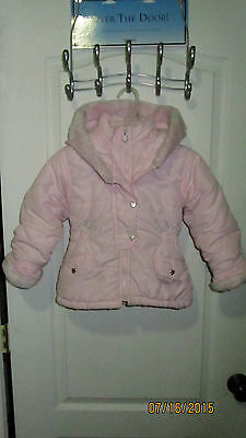 7178a1464 BABY TODDLER 2T Outbrook Kids Pink   Blue Puffy Hoodie Jacket Coat ...