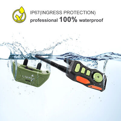 IPets Waterproof Dog Training Shock Collar Remote Bark Collar With 880 Yards