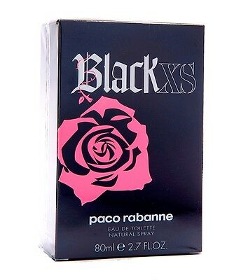 Paco Rabanne Black XS For HER EDT Spray 80ml Women New 100%Original & Sealed