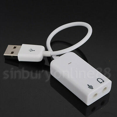 USB 2.0 Virtual 7.1 Channel Audio Mac PC Laptop Headphone Sound Card Adapter 3D